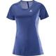 Salomon Agile Running T-shirt Women blue